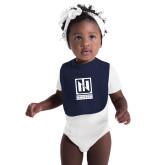 Navy Baby Bib-Institutional Mark Vertical