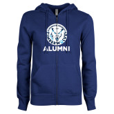 ENZA Ladies Royal Fleece Full Zip Hoodie-Alumni with Athletic Mark