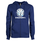 ENZA Ladies Royal Fleece Full Zip Hoodie-Grandma with Athletic Mark