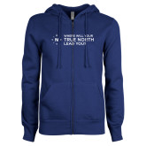 ENZA Ladies Royal Fleece Full Zip Hoodie-Where Will Your True North Lead You