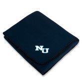 Navy Arctic Fleece Blanket-NU Athletic Mark