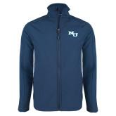 Navy Softshell Jacket-NU Athletic Mark