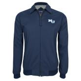 Navy Players Jacket-NU Athletic Mark