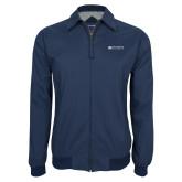 Navy Players Jacket-Institutional Mark Horizontal
