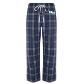 Navy/White Flannel Pajama Pant-NU Athletic Mark