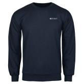 Navy Fleece Crew-Institutional Mark Horizontal