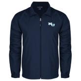 Full Zip Navy Wind Jacket-NU Athletic Mark