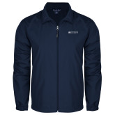 Full Zip Navy Wind Jacket-Institutional Mark Horizontal