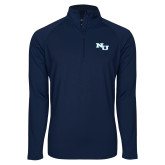 Sport Wick Stretch Navy 1/2 Zip Pullover-NU Athletic Mark
