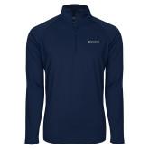 Sport Wick Stretch Navy 1/2 Zip Pullover-Institutional Mark Horizontal