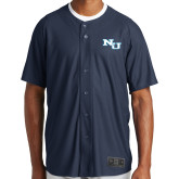 New Era Navy Diamond Era Jersey-NU Athletic Mark