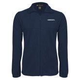 Fleece Full Zip Navy Jacket-Northwood University Timberwolves Wordmark