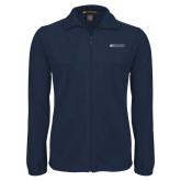 Fleece Full Zip Navy Jacket-Institutional Mark Horizontal
