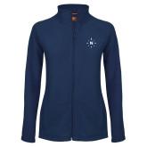 Ladies Fleece Full Zip Navy Jacket-North Compass
