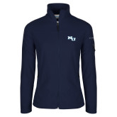 Columbia Ladies Full Zip Navy Fleece Jacket-NU Athletic Mark