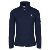 Columbia Ladies Full Zip Navy Fleece Jacket-North Compass