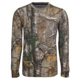 Realtree Camo Long Sleeve T Shirt w/Pocket-Northwood University Timberwolves Wordmark