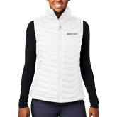 Columbia Lake 22 Ladies White Vest-Institutional Mark Horizontal