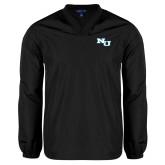 V Neck Black Raglan Windshirt-NU Athletic Mark