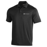 Under Armour Black Performance Polo-Institutional Mark Horizontal