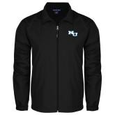 Full Zip Black Wind Jacket-NU Athletic Mark