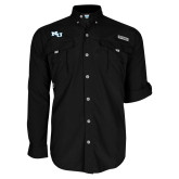 Columbia Bahama II Black Long Sleeve Shirt-NU Athletic Mark