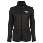 Black Heather Ladies Fleece Jacket-NU Athletic Mark