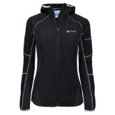 Columbia Ladies Sweet As Black Hooded Jacket-Institutional Mark Horizontal