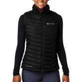 Columbia Lake 22 Ladies Black Vest-Institutional Mark Horizontal