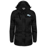 Ladies Black Brushstroke Print Insulated Jacket-NU Athletic Mark