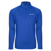 Sport Wick Stretch Royal 1/2 Zip Pullover-Institutional Mark Horizontal