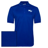 Royal Dry Mesh Polo-NU Athletic Mark