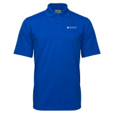 Royal Mini Stripe Polo-Institutional Mark Horizontal