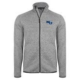 Grey Heather Fleece Jacket-NU Athletic Mark