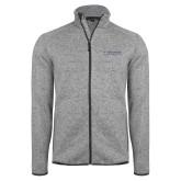 Grey Heather Fleece Jacket-Institutional Mark Horizontal