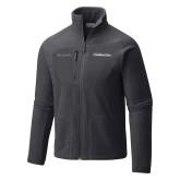 Columbia Full Zip Charcoal Fleece Jacket-Northwood University Timberwolves Wordmark
