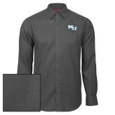Red House Dark Charcoal Diamond Dobby Long Sleeve Shirt-NU Athletic Mark