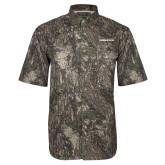 Camo Short Sleeve Performance Fishing Shirt-Northwood University Timberwolves Wordmark