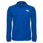 Fleece Full Zip Royal Jacket-NU Athletic Mark