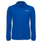 Fleece Full Zip Royal Jacket-Northwood University Timberwolves Wordmark