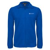 Fleece Full Zip Royal Jacket-Institutional Mark Horizontal