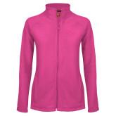 Ladies Fleece Full Zip Raspberry Jacket-NU Athletic Mark