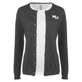 Ladies Charcoal Cardigan-NU Athletic Mark