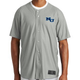 New Era Light Grey Diamond Era Jersey-NU Athletic Mark