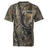 Realtree Camo T Shirt w/Pocket-Northwood University Timberwolves Wordmark