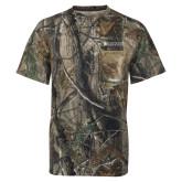 Realtree Camo T Shirt w/Pocket-Institutional Mark Horizontal