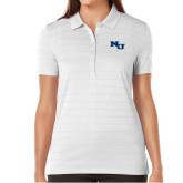 Ladies Callaway Opti Vent White Polo-NU Athletic Mark