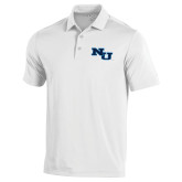 Under Armour White Performance Polo-NU Athletic Mark