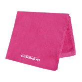 Pink Beach Towel-Northwood University Timberwolves Wordmark