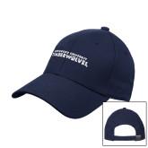 Navy Heavyweight Twill Pro Style Hat-Northwood University Timberwolves Wordmark